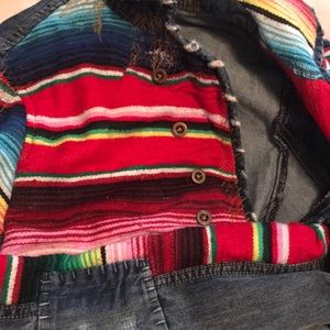 Free People Jackets & Coats - Free People Mexican Blanket Jacket